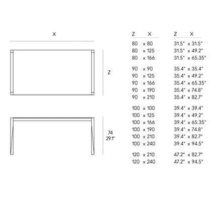 Tavolo tango le dimensioni contano arredare casa con mobili di design horm e casamania - Dimensioni tavolo biliardo casa ...