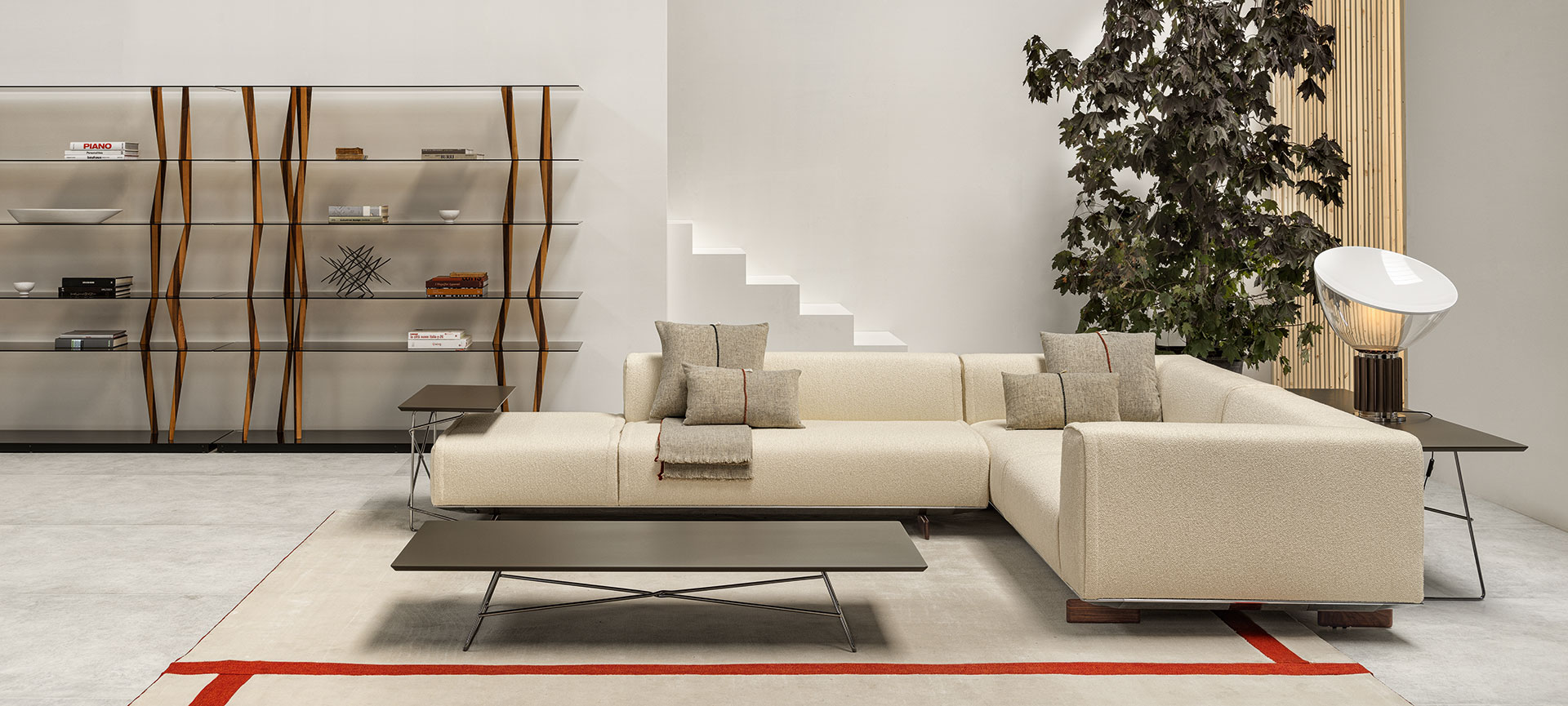 Living room with white Coleman sofa
