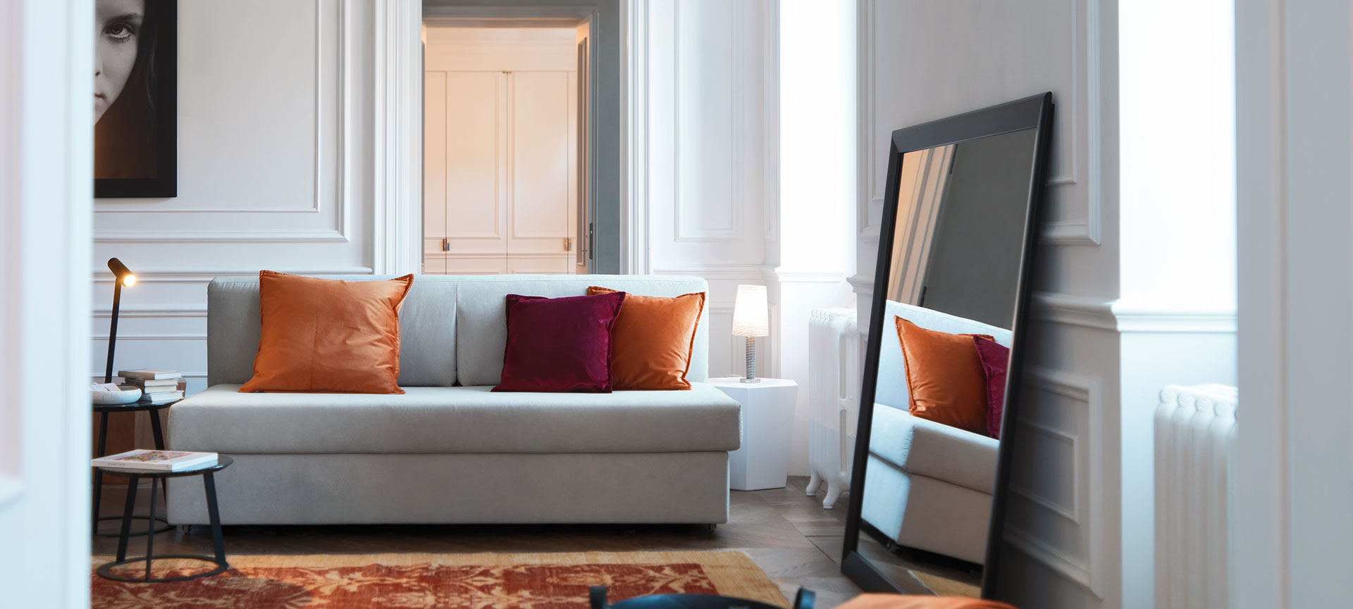 Living room with Vulcano sofa bed