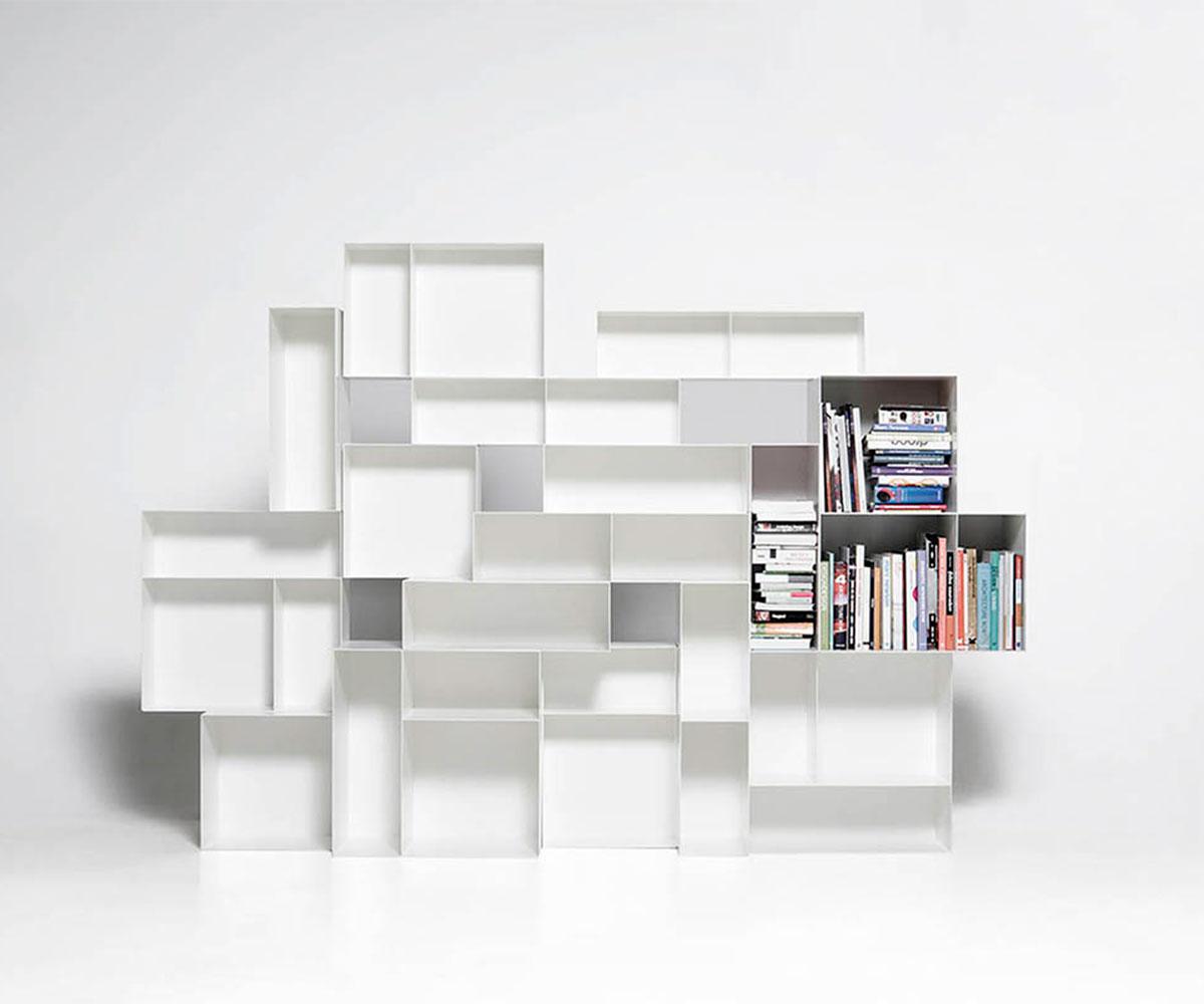 Bookcase Alma a Parete