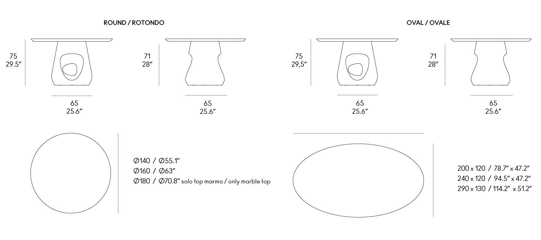 tavolo barbara dimensioni