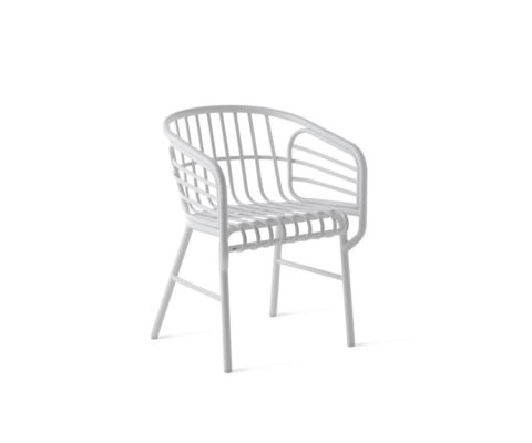 Chair Raphia Alluminio
