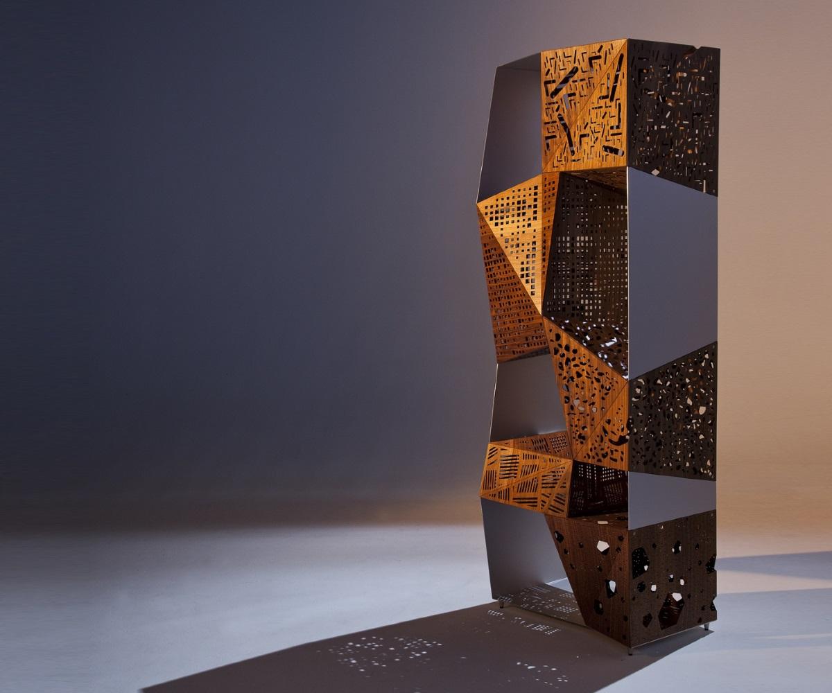 Sculpture Riddled Totem