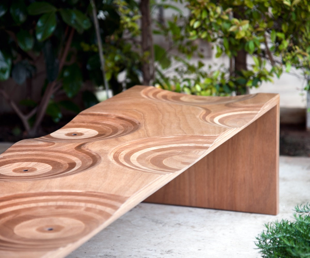 Bench Ripples Outdoor
